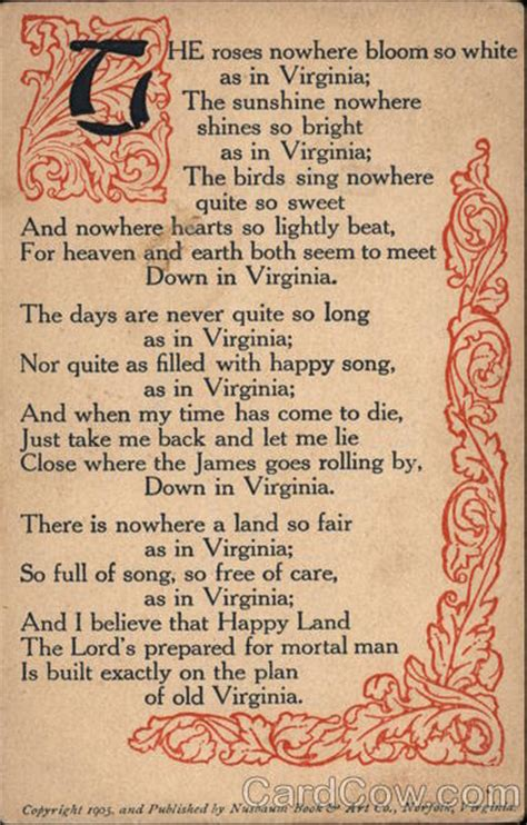 Poem about Virginia Poems & Poets