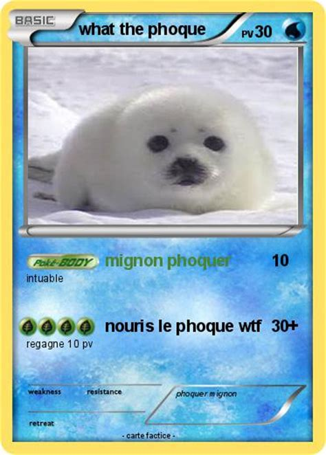 Pokémon what the phoque - mignon phoquer - Ma carte Pokémon