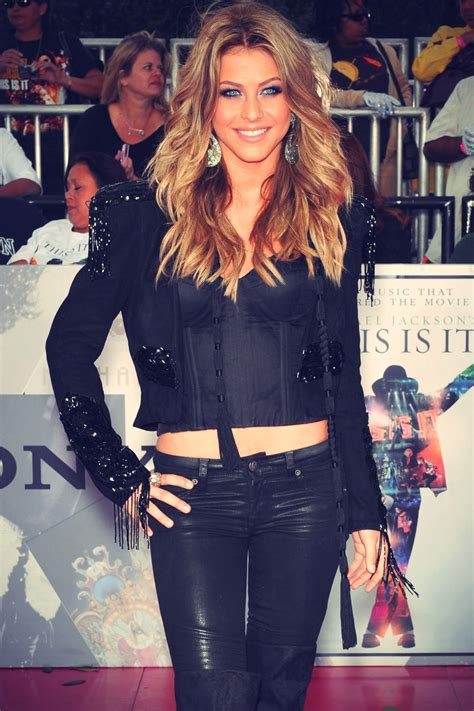 Julianne Hough at Premiere of This Is It - Leather Celebrities