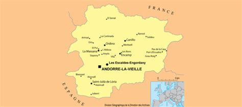 Carte de l'Andorre - Cartes et plans de l'Andorre en Europe
