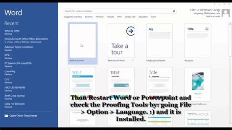 Microsoft Word Proofing Tools - YouTube