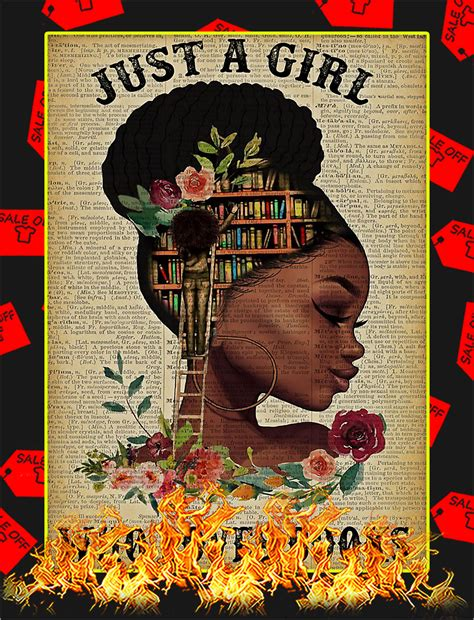 AVAILABLE Black girl Just a girl who loves books poster