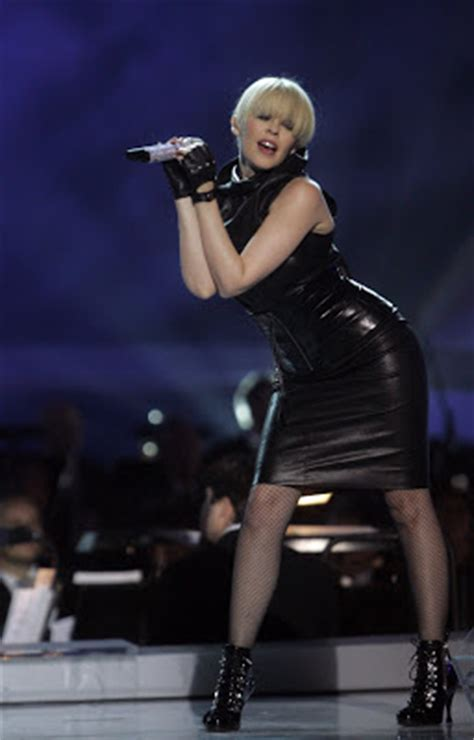 Leather: Kylie Minogue