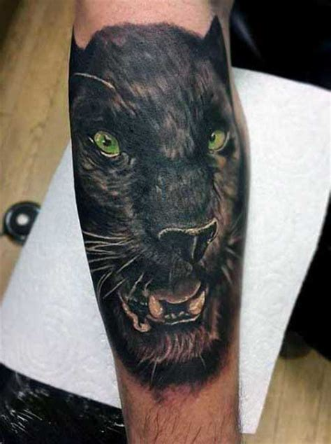 70 Panther Tattoo Designs For Men - Cool Big Jungle Cats