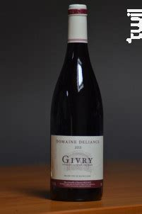 Domaine Deliance Givry 2017 vin Rouge Bourgogne