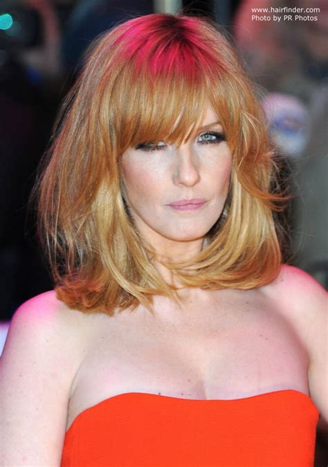 Kelly Reilly | Shoulder length hair and a hair color that