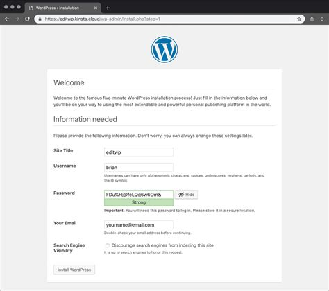 How to Manually Install WordPress on an Empty Site