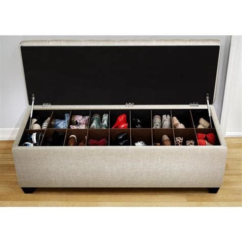 The Sole Secret Shoe Storage Bench - Sand - Free Shipping