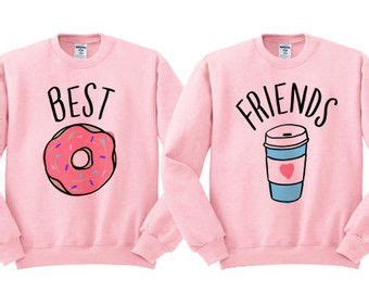 Best Friends Donut And Coffee Duo Sweatshirt - shirt for