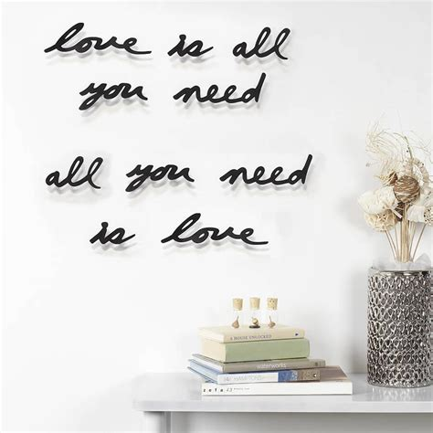 Citation murale décoration - love is all you need